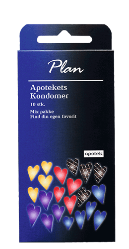 Apotekets Plan kondomer - Mix-pakke